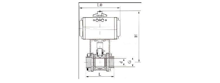pneumatic thread ball valve