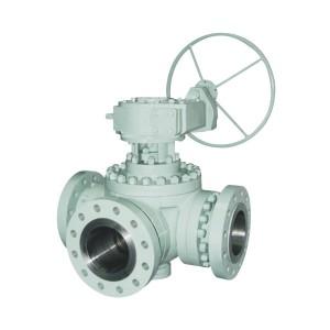 Q44 / 45F flange three way ball valve