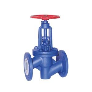 Flange type fluorine lined globe valve