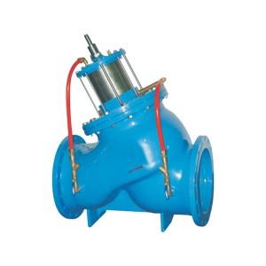 Piston type multifunctional water pump control valve