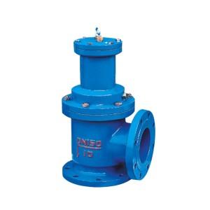 Angle quick opening sludge discharge valve