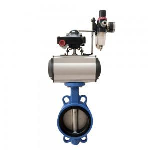 Pneumatic tetrafluoro butterfly valve