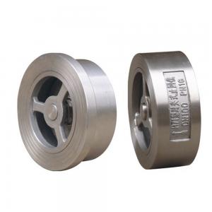 Counter-clip silent check valve