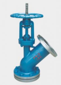 Downward spreading discharge valve